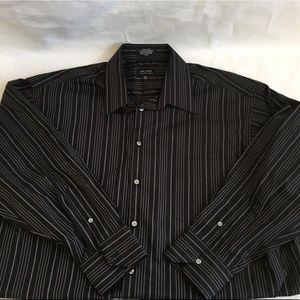 Men's Axcess Striped Dress Up Shirt Size XL